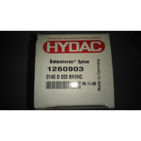 hydac 1260903 0140 d 003 bn3hc filter