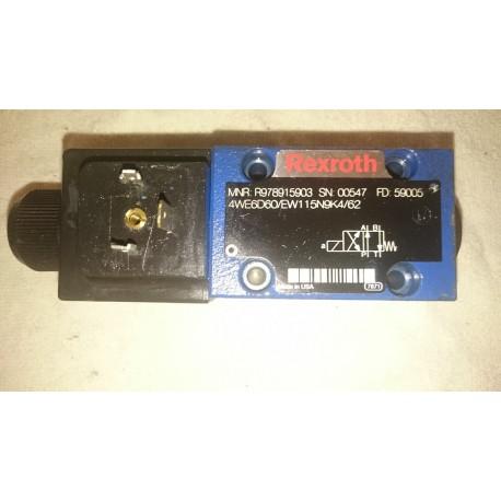 rexroth 4we6d60/ew115n9k4/62 hydraulic directional valve 110 v