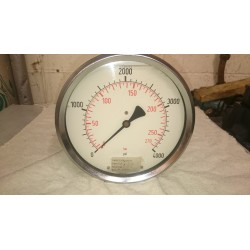150mm glycerine filled 0-4000 psi wiki pressure gauge rear