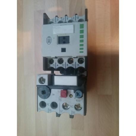 klockner moeller dil 00 m 10 contactor with z 00 4 overload 110v 50hz
