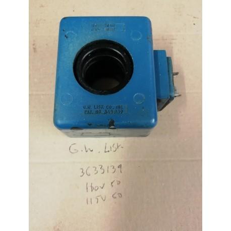 g w lisk 3633139 110v ac coil k16 255 27 racine valve