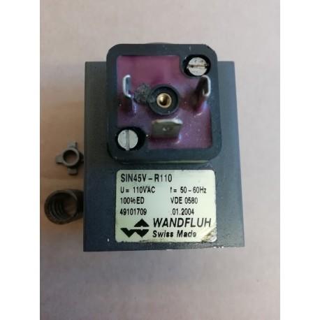 wandfluh sin45v-r110 valve solenoid 110 vac