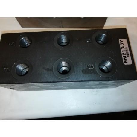 cetop 3 manifold block 3 valve manifold block em213/3y