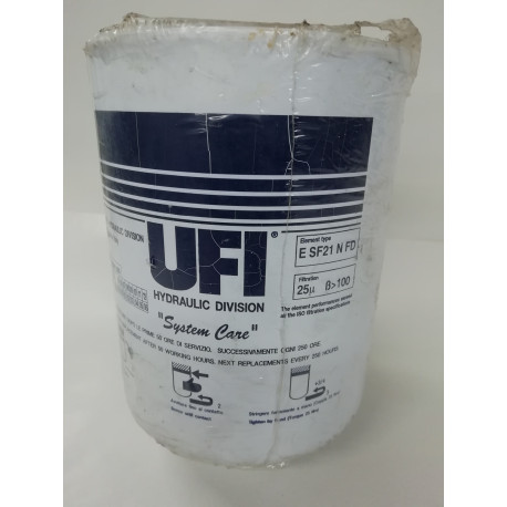 ufi esf21nfd spin on hydraulic filter element 25 micron