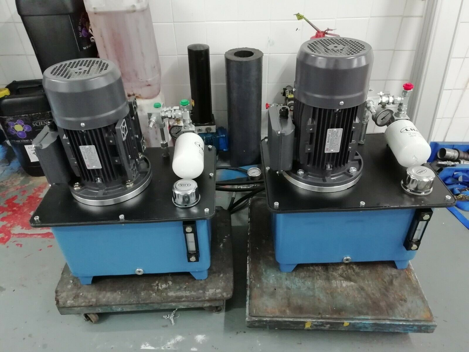 compact 3 phase or single phase hydraulic power packs